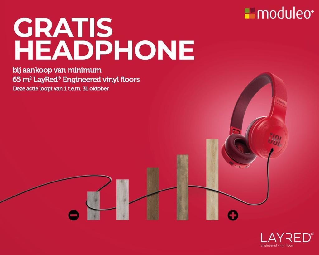 Gratis Headphone bij aankoop vanaf 65m2 Moduleo Layred