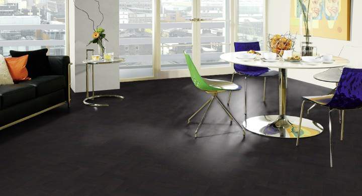Antraciet Pvc Vloer : Designflooring art select parquet visgraat black oak ap pvc vloeren